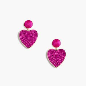 🆕 NWT 💖 J. Crew Beaded heart drop earrings